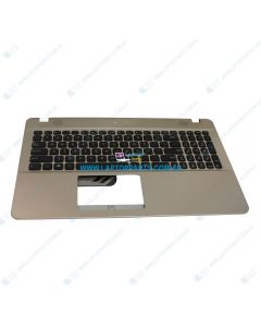 Asus X541UV-1A Replacement Laptop Gold Upper Case / Palmrest with US Black Keyboard 13NB0CG1AP0321