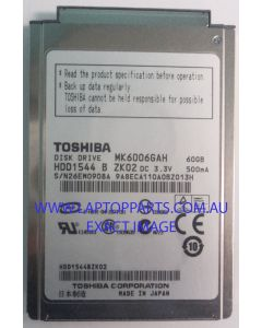 TOSHIBA Replacement Laptop MK6006GAH HDD1544 Hard Disk Drive NEW